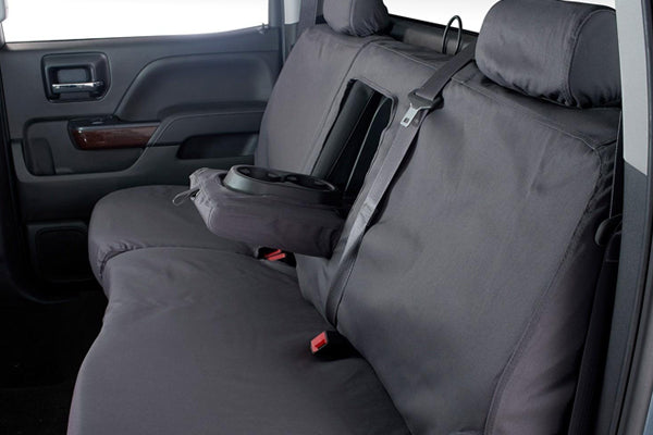 Polycotton Seat Covers - Charcoal Rear Seat Covers