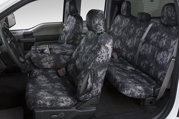Prym1 Blackout Camo Seat Covers Front and Rear