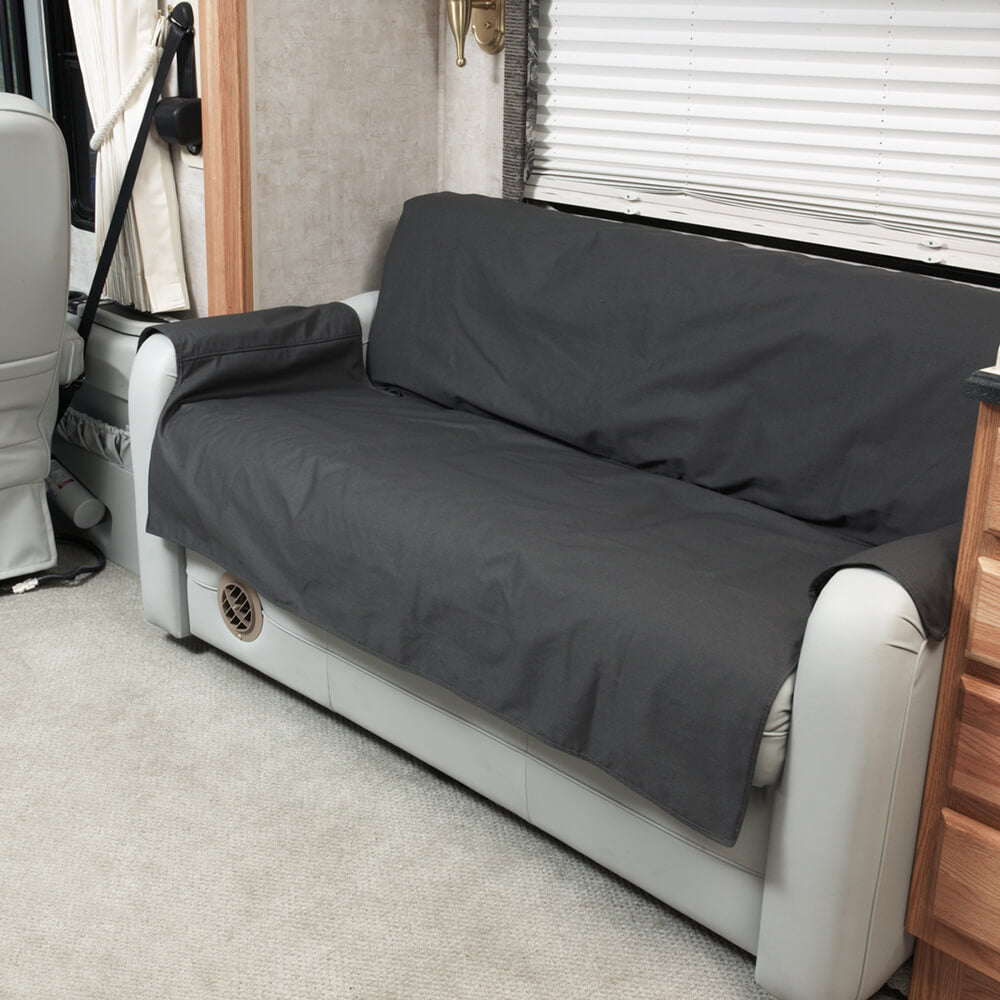 RV Sofa Covers in Black
