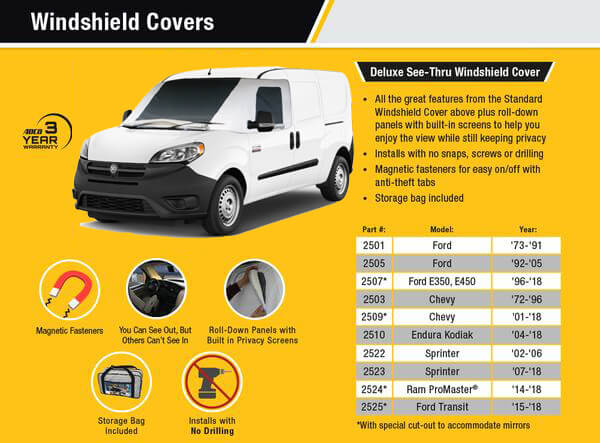 Ford Transit Deluxe Windshield Cover