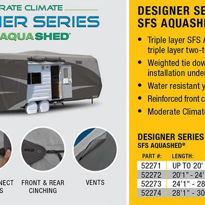 Designer Series SFS Aqua Shed Toy Hauler RV Cover