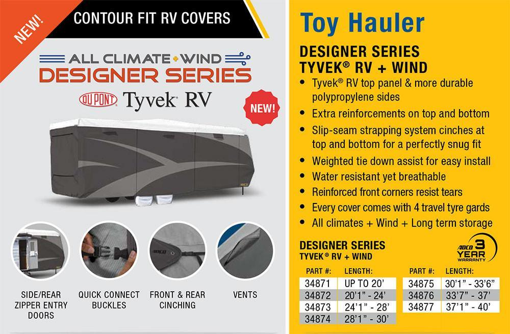Designer Series Tyvek Toy Hauler RV Cover