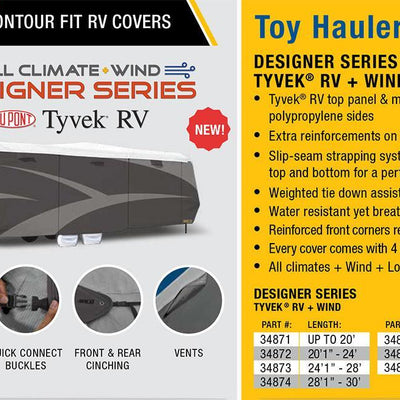 ADCO Toy Hauler RV Cover Features