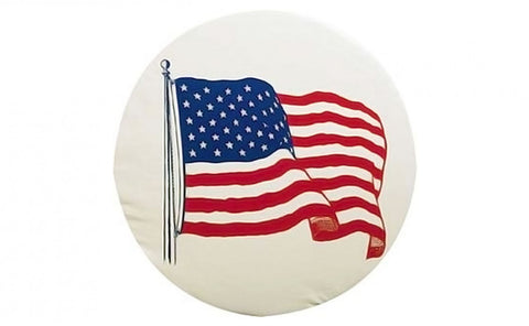"ADCO 31.25"" USA Flag Tire Cover"