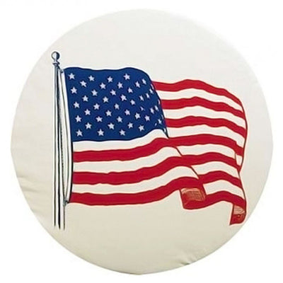 USA Flag Tire Cover