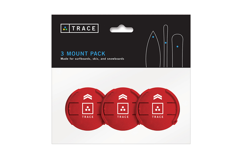 Red Mounts - 3 Pack