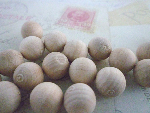 10mm Natural Round Wooden Balls - NO HOLE