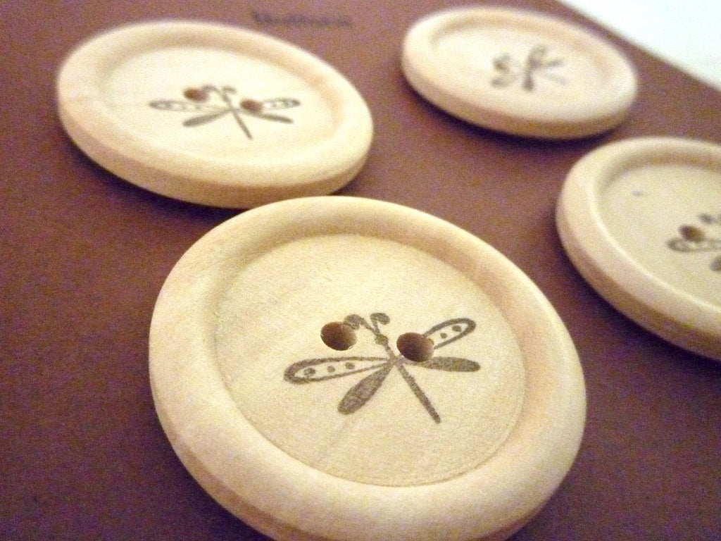 Stamped Buttons Dragonfly Collection - 30mm