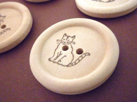 Stamped Buttons Cat Collection - 30mm
