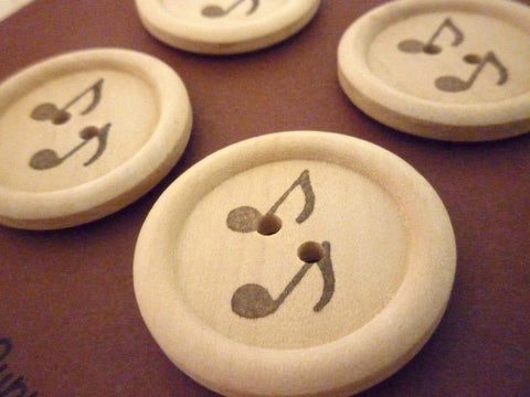 Stamped Buttons Music Collection - 30mm