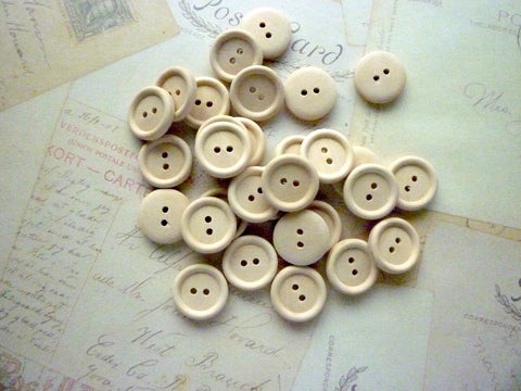 "3/4"" Wooden Buttons - Two holes (20mm)"