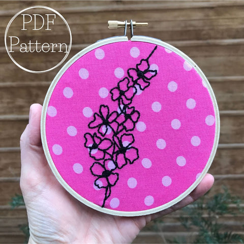 Cherry Blossom Embroidery PATTERN