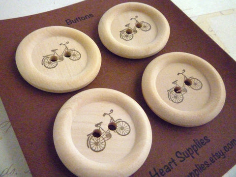 Stamped Button Bicycle Collection - 35mm