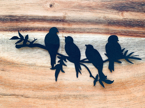 Black Birds on a Branch Silhouette, Die Cut