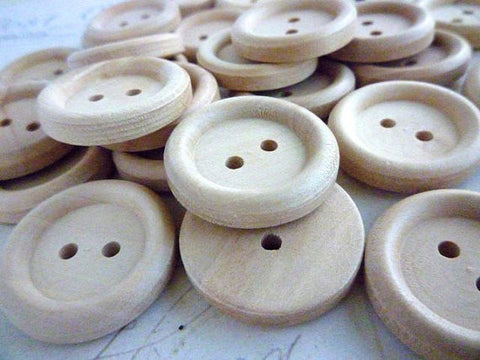 "7/8"" Wooden Buttons - Two holes"