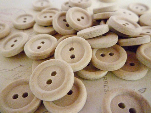Half Inch Wooden Buttons - Two holes (15mm)