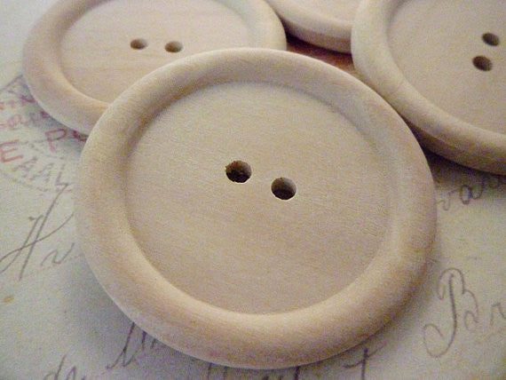 Jumbo Wooden Buttons - Two holes (45mm)