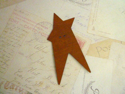 Metal Button - Large Rusty Star Button - 90mm