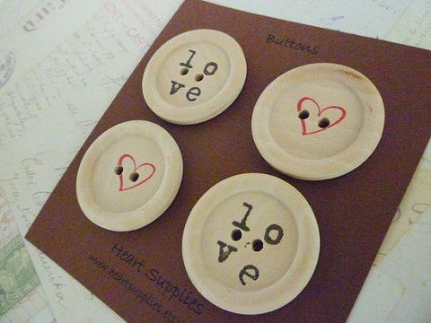 Stamped Button Love Collection - 35mm