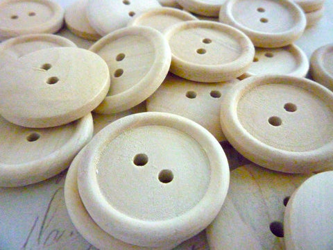 One inch Wooden Buttons - Two holes (25mm)