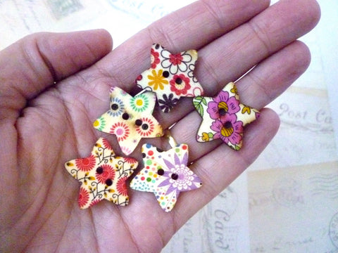 Star flower button