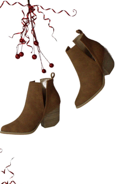 No Regrets Booties in Brown