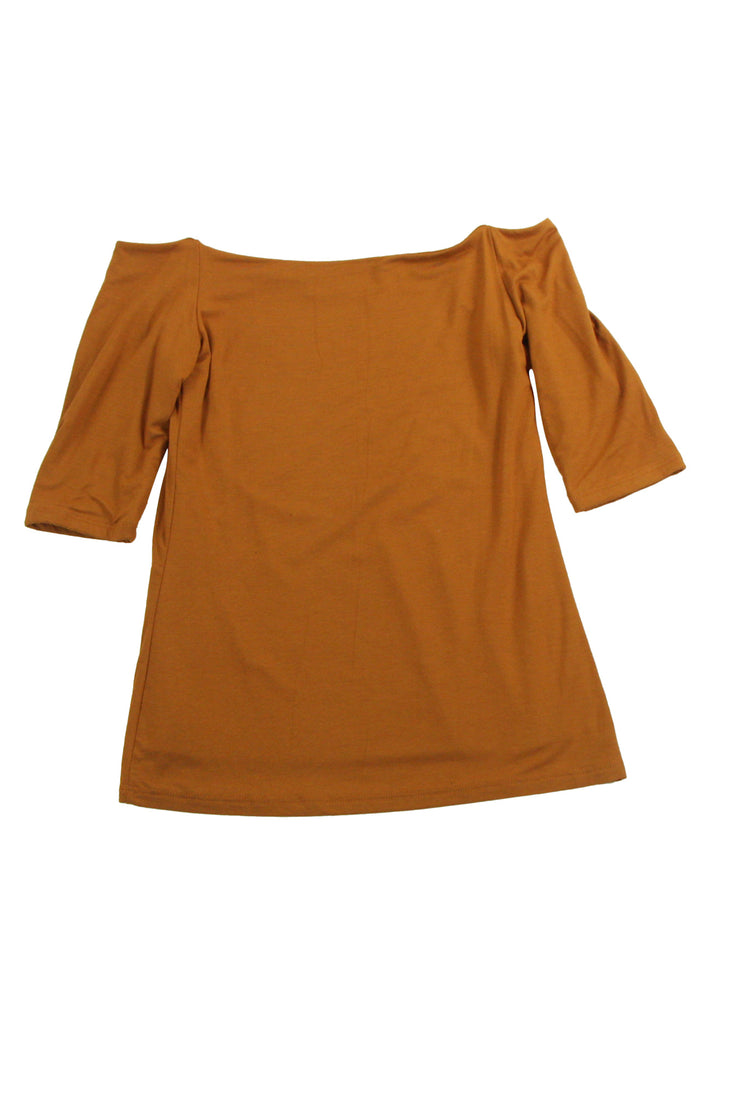 Shoulder to the Grindstone Top in Dark Orange