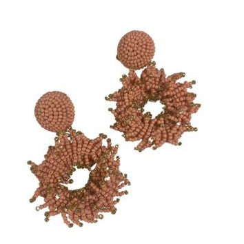 Assertive Earrings in Light Orange