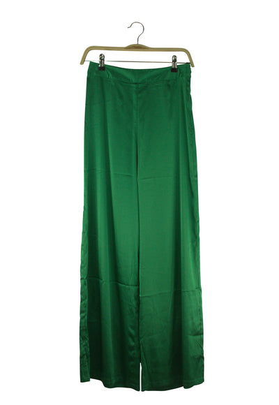 Silk Screen Pants in Green