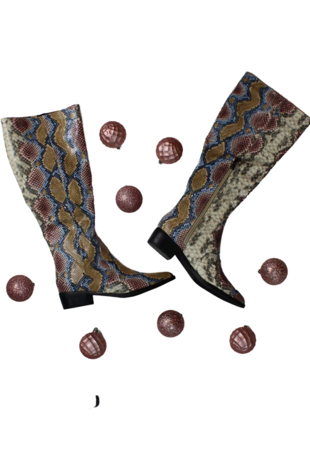 Sexy Snake Print Boots in Multiple Colors