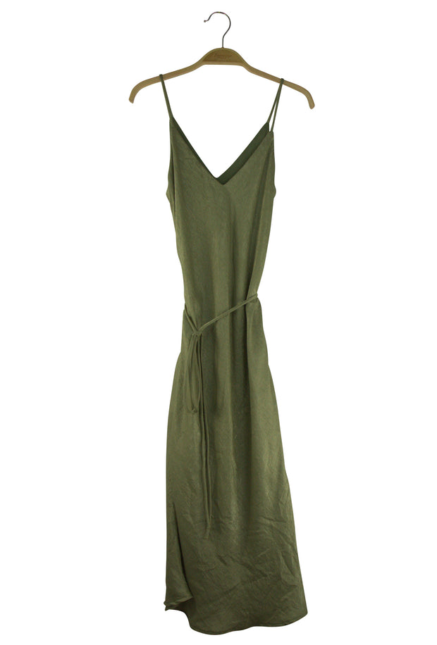 Ombre Dress in Dark Green