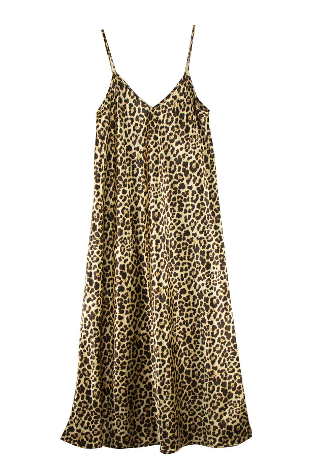 Cat Nap Dress in Leopard Print