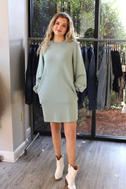 Unmatched Dress in Light Green