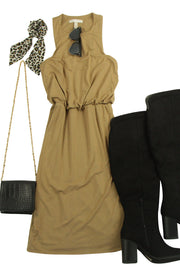 Flippant Dress in Brown