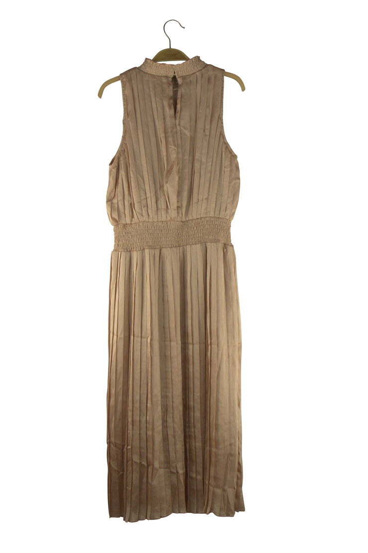 Aspirations Dress in Light Brown
