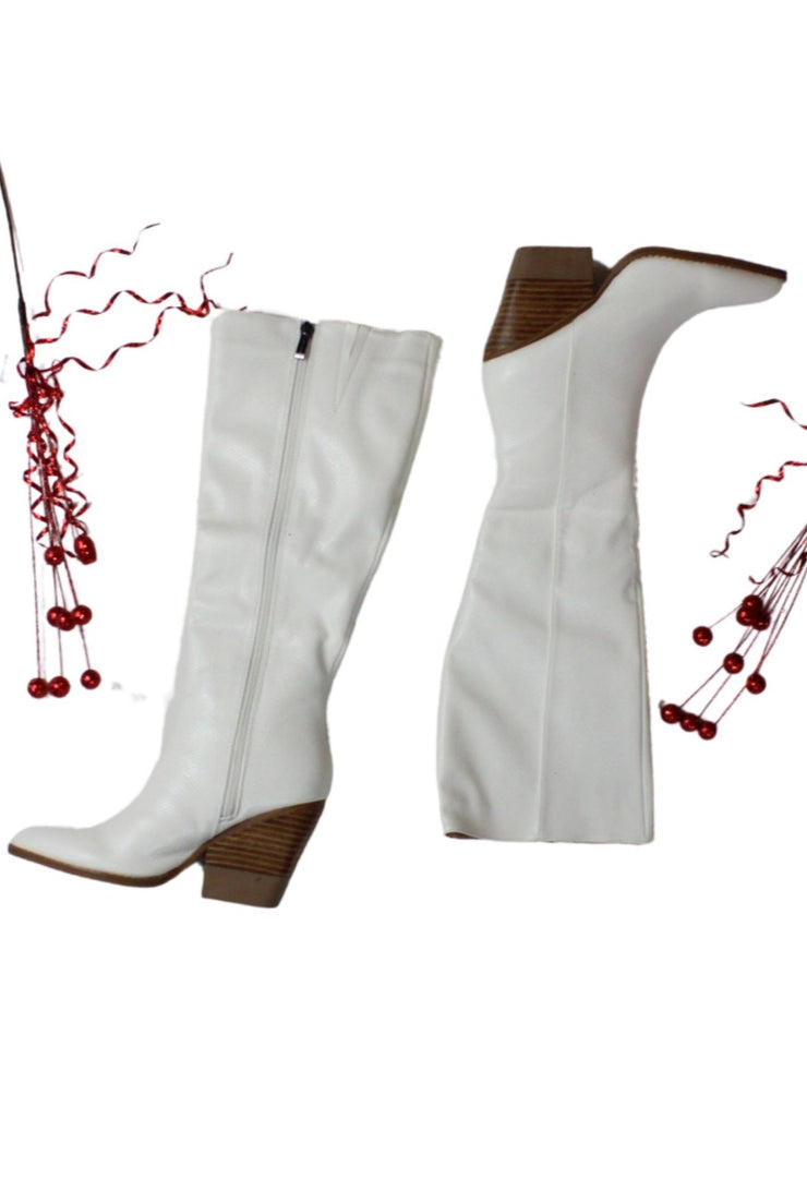 Beyond Trendy Boots in White
