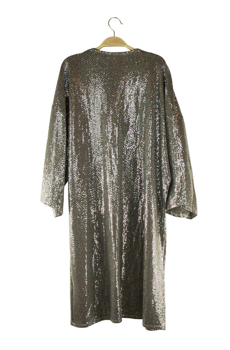 Shimmer Duster in Silver