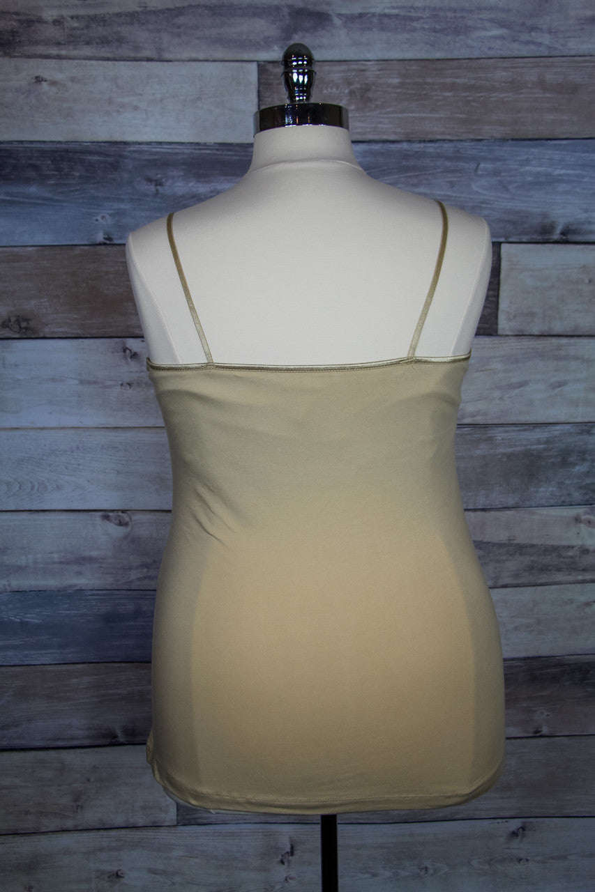 PLUS SIZE: Solid Cotton Cami in Nude