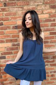 Monica Top in Dark Blue