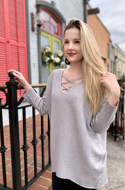 Boasty Top in Grey
