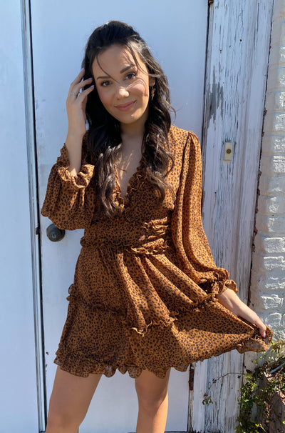 Into the Breach Dress in Brown