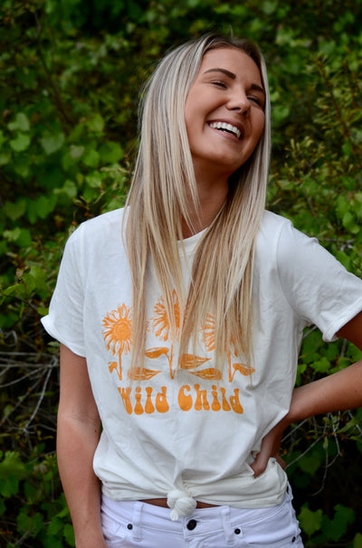 Wild Child Tee in Off White