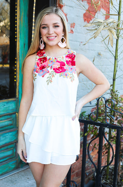 Frida Romper in White