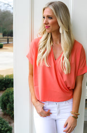 Striking Top in Orange