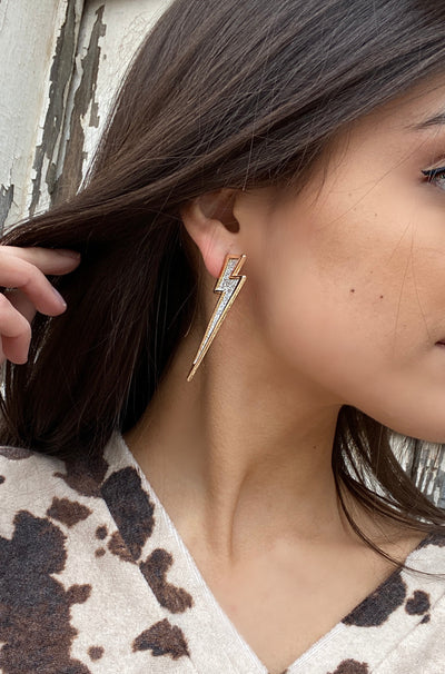 Strike Earrings in Gold