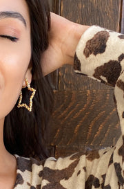 Morning Star Earrings in Gold