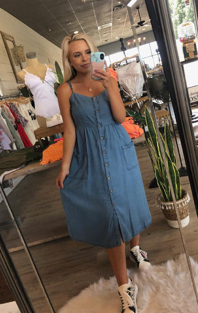 Cool and Comfy Denim Dress