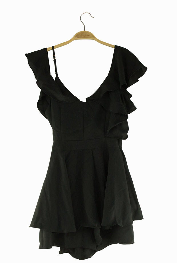 Flattery Romper in Black