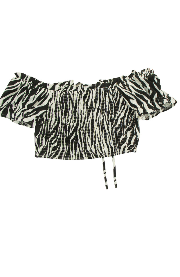 A to Zebra Top in White