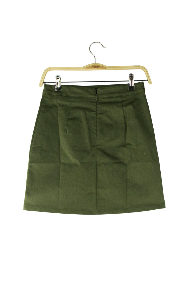 Split Second Skirt in Dark Green